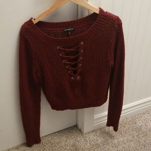 Small express sweater crop top